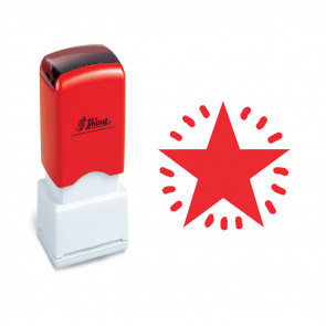 Teacher Stamp | Craft Stamp | Red Star. Self-inking
