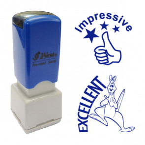 School Stamps | Impressive  / Excellent Blue Ink Stamps