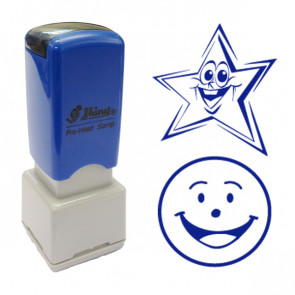School Stamps | Smiley Star & Happy Face 2 Stamp Set