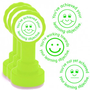 Teachers Stamps | Learning Objective Progress Marking Set - Achieved, Not Achieved, Working Towards...