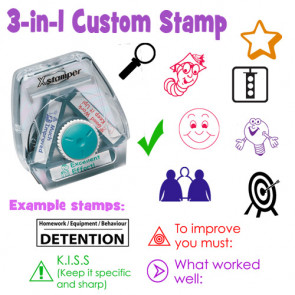 Custom School Stamp | Custom Xstamper Twist 'n Stamp / 3-in-1 Teacher Stamp