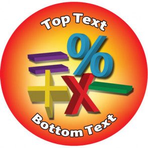 Personalised Stickers for Kids   Maths Reward Designs to Customise for Teachers
