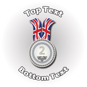 Personalised Stickers for Kids | Sports Silver / Second Medal for School Sports Days