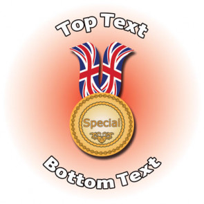 Personalised Stickers for Kids | Participation Medal Sports First for School Sports Days