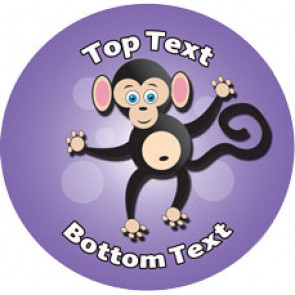 Personalised Stickers for Kids | Fun Monkey Designs to Customise for Teachers