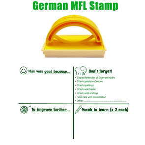 Teacher Stamp | German Language Marking, Target & Feedback Stamp