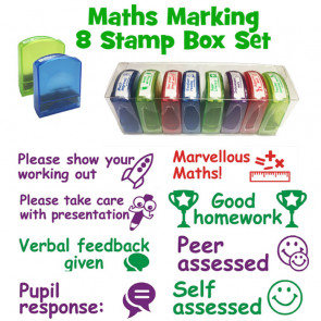 Teacher Stamps | Maths / Numeracy School Stamps - Boxed set