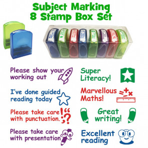 Teacher Stamps | Mixed Subject School Stamps - Boxed set