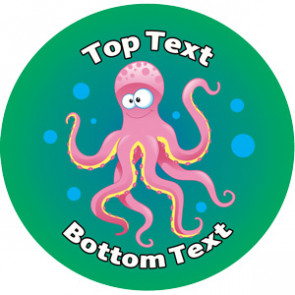 Personalised Stickers for Teachers | Under the Sea Design to Customise for Kids
