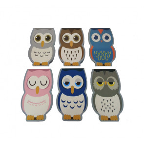 Class Gifts | Shaped Owl Mini Notepads / Memos