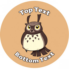Personalised Stickers for Kids | Owl, Woodland Bird Design Sticker Designs to Customise for Teachers