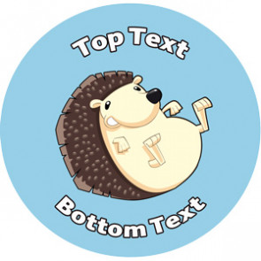 Personalised Stickers for Kids | Hedgehog Sticker Designs to Customise for Teachers