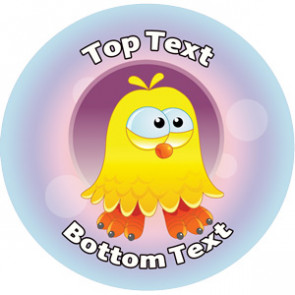 Personalised Stickers for Teachers | Duck Dude Design Alien Sticker to Customise for Kids