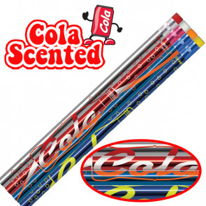 Smelly Pencils | Pack of 12 Cola Smelling Pencils. 4 Different Designs Per Pack