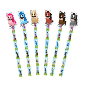 Party Bag Fillers | Colourful Pony Pencil Toppers x 9