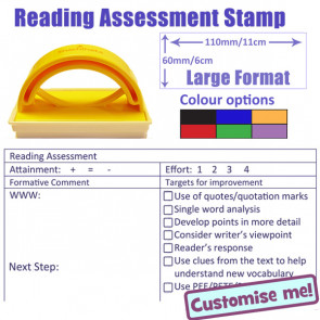 Teacher Stamp | Reading Assessment - Targeting - Marking - Feedback Stamper