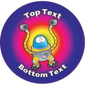 Personalised Stickers for Teachers | Cheers Robot Design Sticker to Customise for Kids