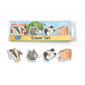 Kids Gifts | RSPCA Buttercup Farm Friends Eraser Set.