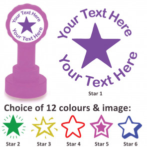 Custom Stamps | Star Stamp - Personalised Craft Stamps and Teacher Stamps