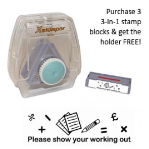 Teacher 3-in-1 Marking Stamper | Please show yur working out -  custom block for Artline 3-in-1 stamper