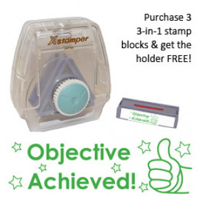 Teacher 3-in-1 Stamper | Objective Achieved stamp