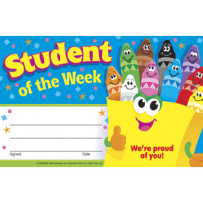 School Certificates | Student of the Week - Crayons