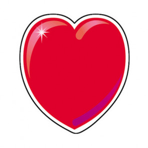 Picture Cards for Classrooms   Red Hearts Cut Outs