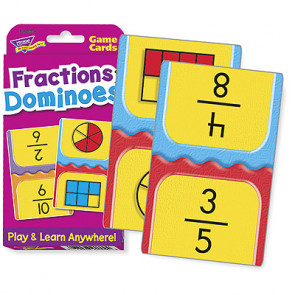 Maths Games | Fractions Dominoes Flash Cards