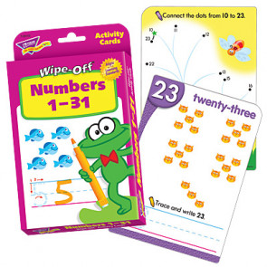 Children's Educational Games | Maths Number Wipe Off Flash Cards Numbers 1-31