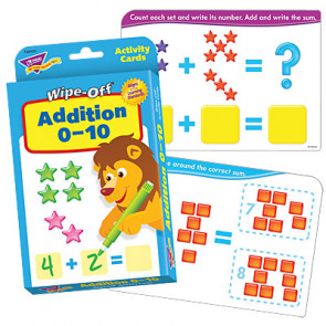 Children's Educational Games | Addition Wipe Off Flash Cards Numbers 1-10