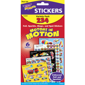 Motors in Motion School Stickers Variety Pack T33001