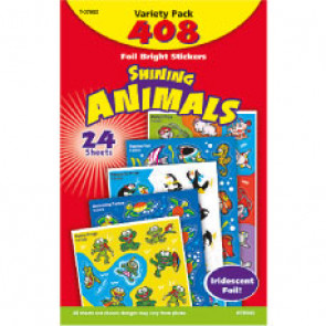Kids Stickers | Foil Bright Shining Animals School Stickers