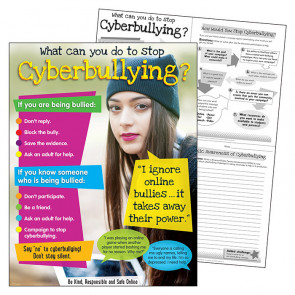 School Poster | Cyberbulling - staying safe online poster. Secondary Level