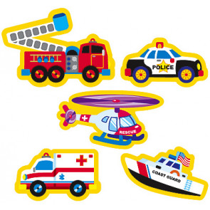 Rescue Vehicles Stickers for School