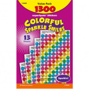 Colourful Smiles Sparkly School Stickers