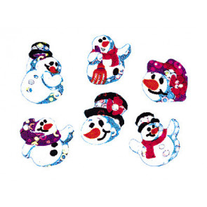 Kid's stickers | Snowman Folks Sparkles
