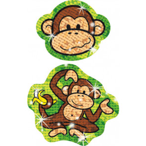 Kid's Sparkle Lively Monkey Stickers