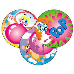 Scratch and Sniff Blowing Bubbles Stickers for Chilldren