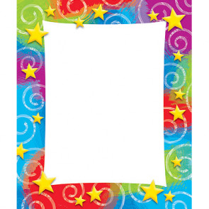 Colourful Memo Pad | Stars and Swirls Design Notepad