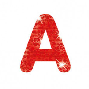 Stick-On Letters | Red Sparkle