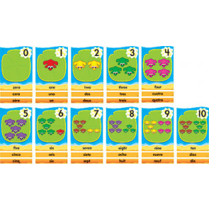 Wall Charts and Posters   Large Lily Pad Number Line 0- 31 in 3 languages - English, French, Spanish