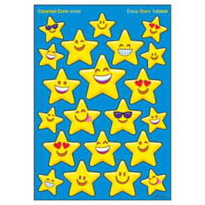 Kids Stickers | Emoji Stars Caramel Corn Scented Stickers
