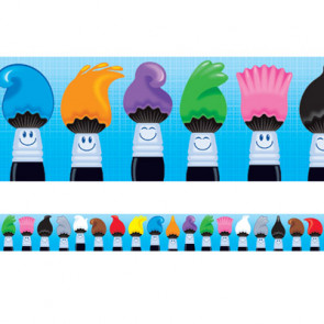 Classroom Border | Art / Paintbrush Design Classroom Decorative Trimmer