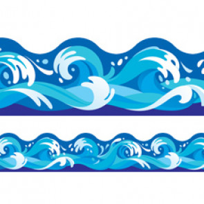 Classroom display trimmers / borders | Ocean or Sea Water Waves