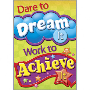 Posters | Dare to Dream It, Work to Achieve It - PSHE Poster.