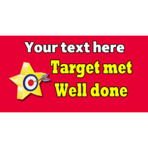 Teacher Personalised Marking Stickers | Target Met, Star Design Sticker to Customise
