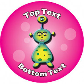 Personalised Stickers for Teachers | 3 Eye Alien Designs to Customise for Kids
