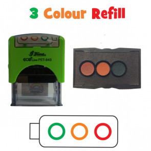Teacher Stamps | 3 Colour Ink Refill Pad - Traffic Light Stamp