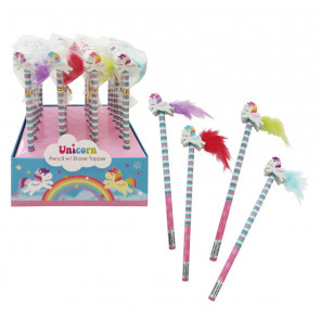 Bulk Stationery | Low Cost Class Gifts / Party Bag Fillers - Unicorn Pencils with Eraser Toppers