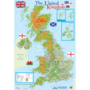 School Educational Posters | Map of the UK Chart Poster
